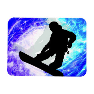 Snowboarder in Whiteout Vinyl Magnet