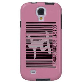 SNOWBOARDER INSIDE Barcode Galaxy S4 Case