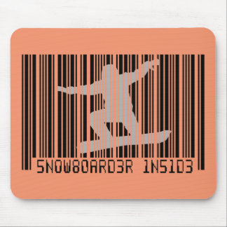 SNOWBOARDER INSIDE Barcode Mouse Pad