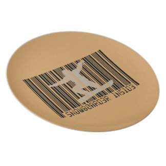 SNOWBOARDER INSIDE Barcode Plates