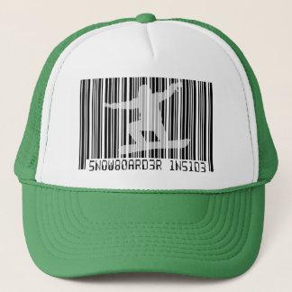 SNOWBOARDER INSIDE Barcode Trucker Hat