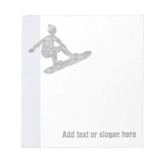 Snowboarder Logo and Slogan Notepad