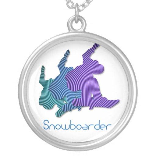 Snowboarder Logo Necklace