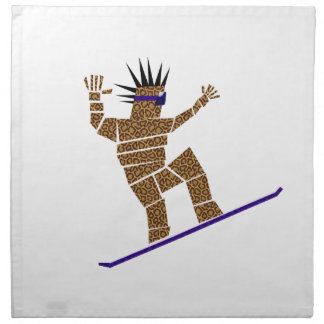 Snowboarder Napkin