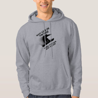 Snowboarder On The Edge Hoodie