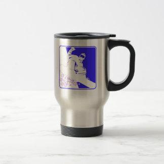 Snowboarder/Pop Art Travel Mug
