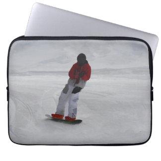 "Snowboarder ""preparing to ski'"" Winter Sports Gift Laptop Sleeve"