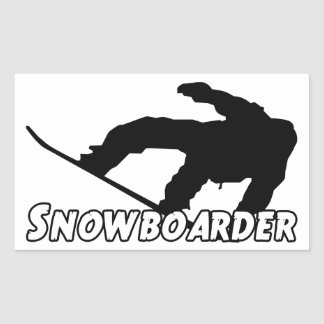 Snowboarder Rectangular Sticker