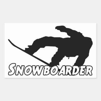 Snowboarder Rectangular Sticker