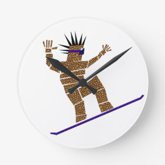 Snowboarder Round Clock