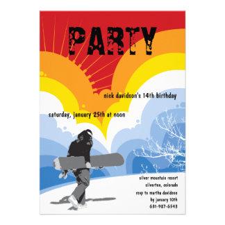 Snowboarder s Dream Invitation