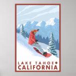 Snowboarder Scene - Lake Tahoe, California