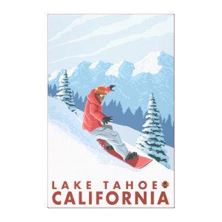Snowboarder Scene - Lake Tahoe, California Canvas Print