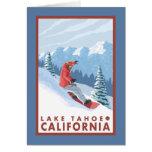Snowboarder Scene - Lake Tahoe, California Card