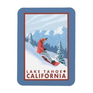 Snowboarder Scene - Lake Tahoe, California Magnet
