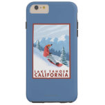 Snowboarder Scene - Lake Tahoe, California Tough iPhone 6 Plus Case