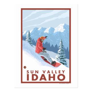 Snowboarder Scene - Sun Valley, Idaho Postcard