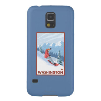 Snowboarder Scene - Washington Galaxy S5 Cases