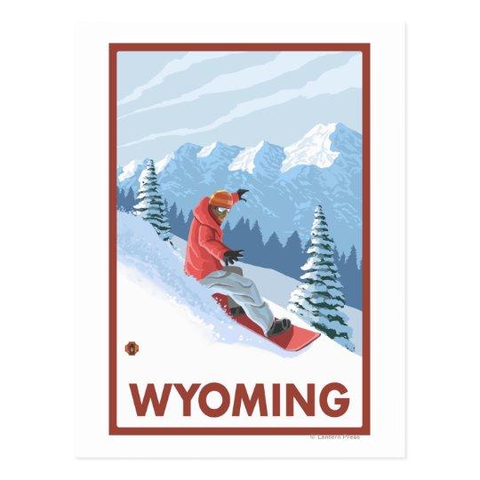 Snowboarder SceneWyoming Postcard