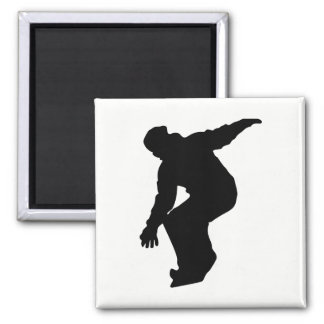 Snowboarder Silhouette Magnet