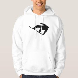 Snowboarder Silhouette Snowboarding Hoodie