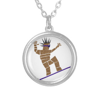 Snowboarder Silver Plated Necklace