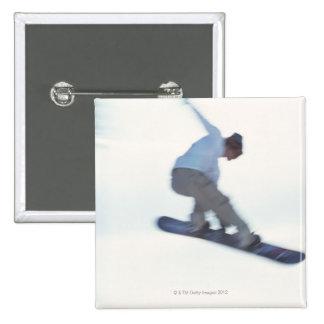 Snowboarding 11 15 cm square badge