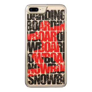 Snowboarding #1 (blk) carved iPhone 8 plus/7 plus case