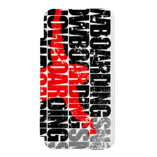 Snowboarding #1 (blk) incipio watson™ iPhone 5 wallet case