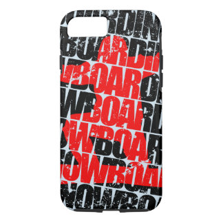 Snowboarding #1 (blk) iPhone 7 case
