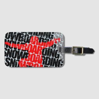 Snowboarding #1 (blk) luggage tag