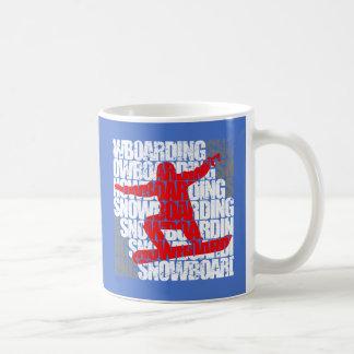 Snowboarding #1 (wht) coffee mug