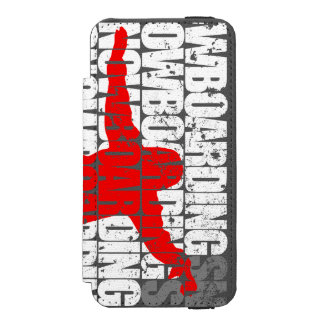 Snowboarding #1 (wht) incipio watson™ iPhone 5 wallet case