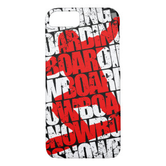 Snowboarding #1 (wht) iPhone 7 case