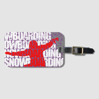 Snowboarding #1 (wht) luggage tag