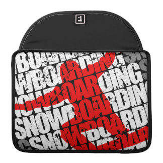 Snowboarding #1 (wht) sleeve for MacBook pro