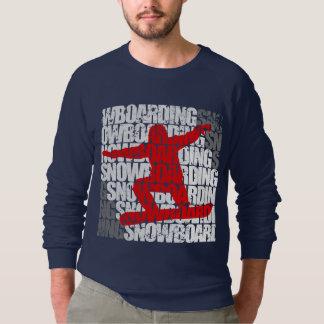 Snowboarding #1 (wht) sweatshirt