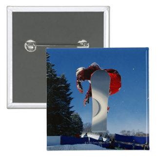 Snowboarding 5 15 cm square badge