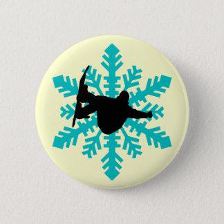 Snowboarding 6 Cm Round Badge