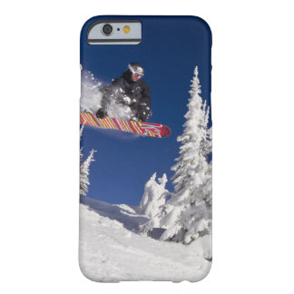 Snowboarding action at Whitefish Mountain Resort Barely There iPhone 6 Case