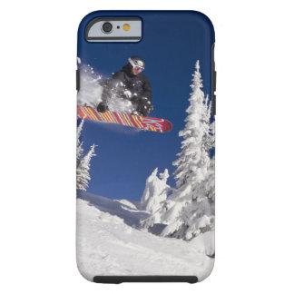 Snowboarding action at Whitefish Mountain Resort Tough iPhone 6 Case