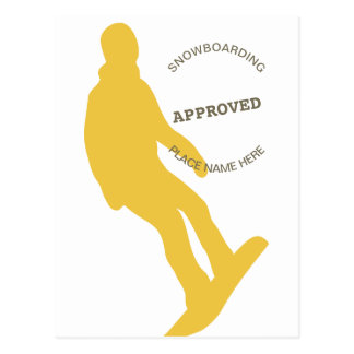 Snowboarding Approved Postcard