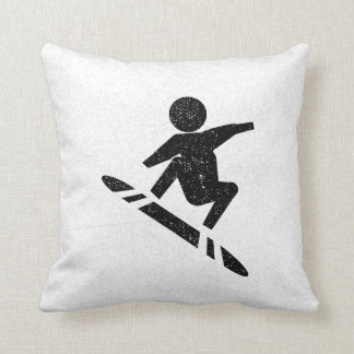 Snowboarding At Play Cushion