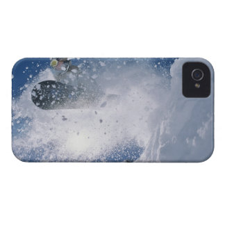 Snowboarding at Snowbird Resort, Wasatch iPhone 4 Case-Mate Case