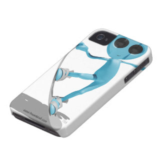 Snowboarding Blue Alien iPhone 4/4s Case