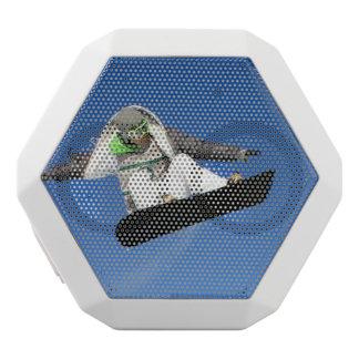Snowboarding White Boombot Rex Bluetooth Speaker