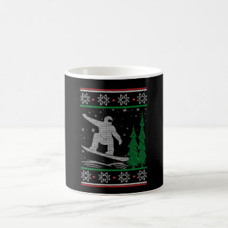 Snowboarding Christmas Coffee Mug