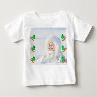 Snowboarding Christmas Tree Baby T-Shirt