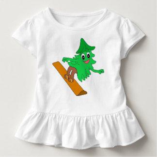 Snowboarding Christmas Tree Toddler T-Shirt