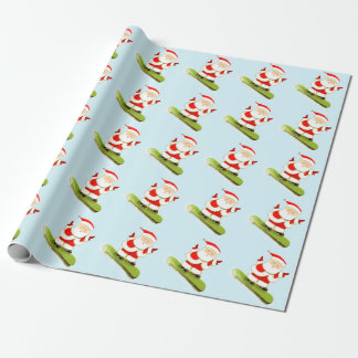 snowboarding Christmas Wrapping Paper